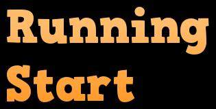 Running Start Clip Art