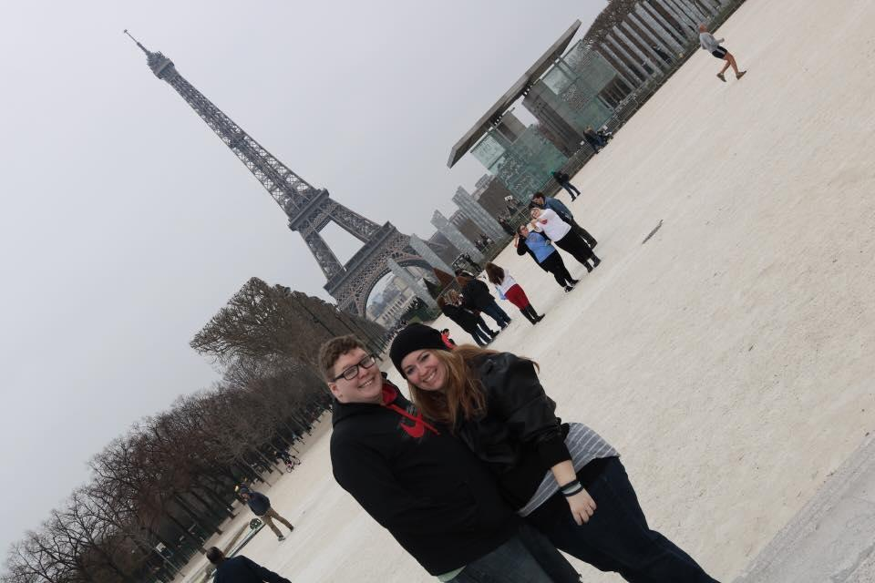 My husband and me in Paris