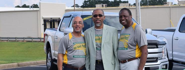 Dr. Ellis and two mayors