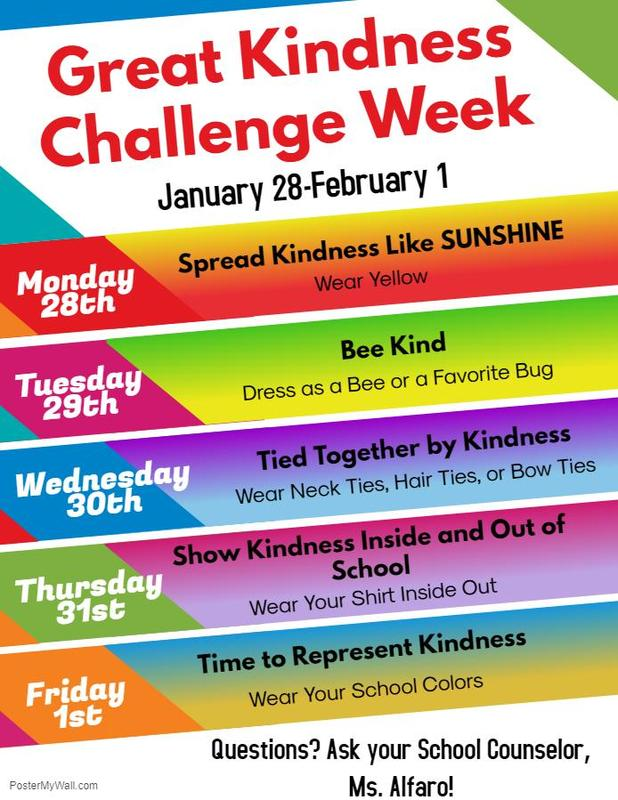 Great Kindness Challenge Week Poster