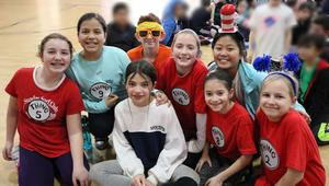 Photo of Tamaques 5th graders dressed for Read Across America Day.