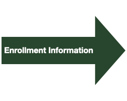 """Green Arrow with White Text that Reads """"Enrollment Information"""""""