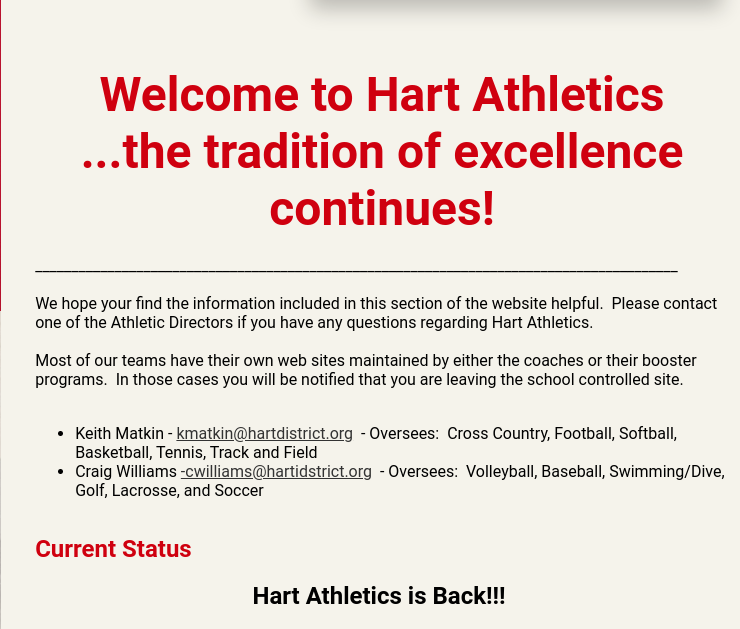 Athletics are Back!!!