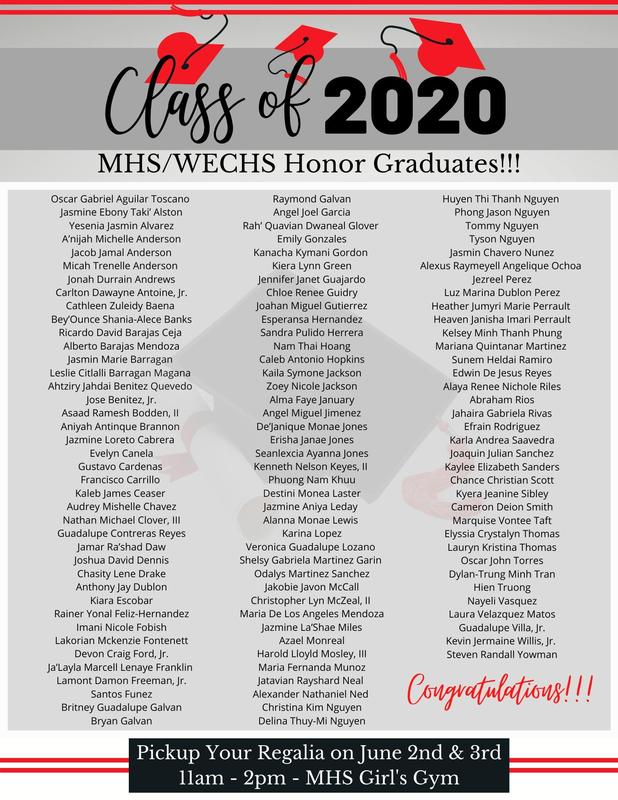 MHS/WECHS 2020 Honor Graduates Featured Photo