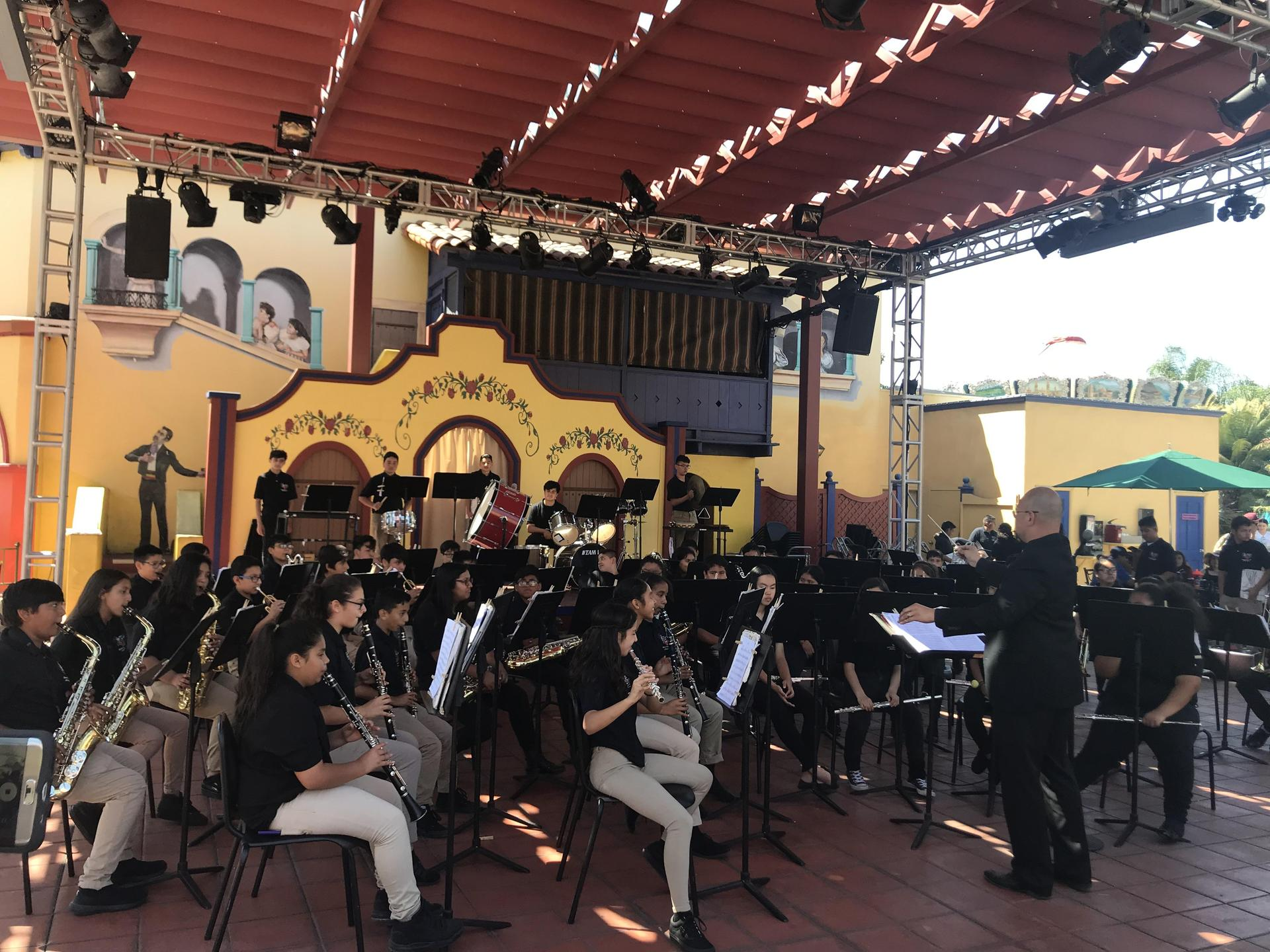 Concert Band performing @ Knott's Berry Farm 4/12/19