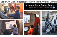Stellare 7th Grade Project Launch at the NASA Visitor Center!