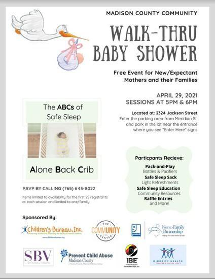 Madison County Walk-Through Baby Shower