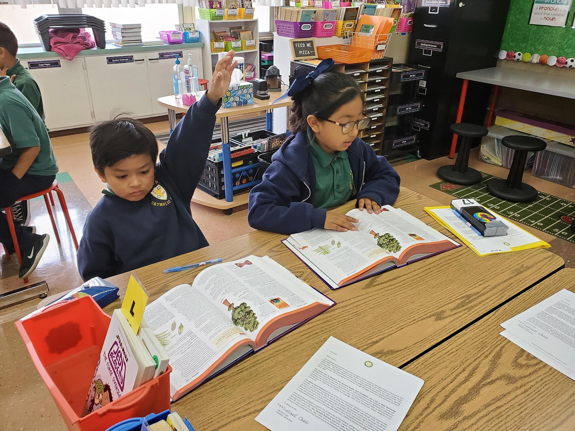 The Hayward Rotary Club generously donated dictionaries to our third graders.