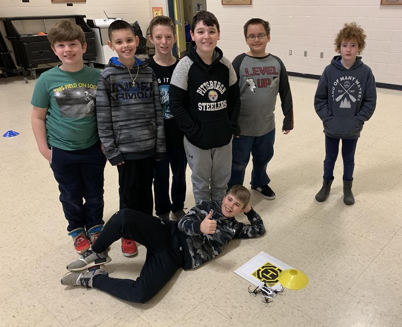 5th Graders have fun coding drones