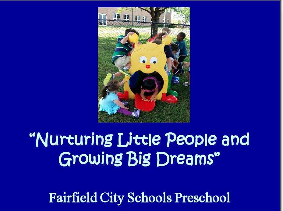 Preschool Home Preschool Fairfield City School District