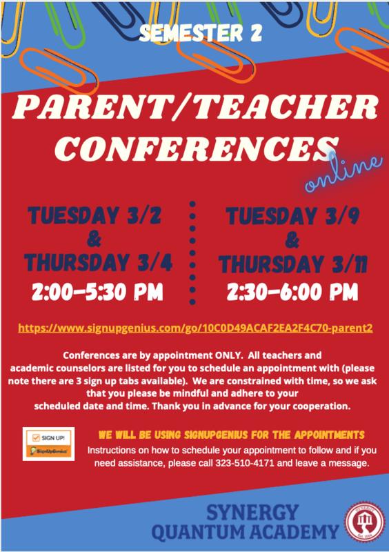 Parent/Teacher Conferences for Semester 2 Featured Photo