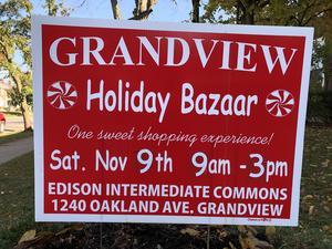 Holiday Bazaar sign