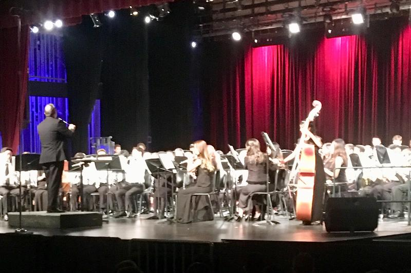Congratulations to our four Rio honor band students: Kate Shin , Vinay  Sundar , Luka Hodge and Aaron Roberts! Everyone enjoyed a wonderful night of music at the Hart District Honor Band concert!