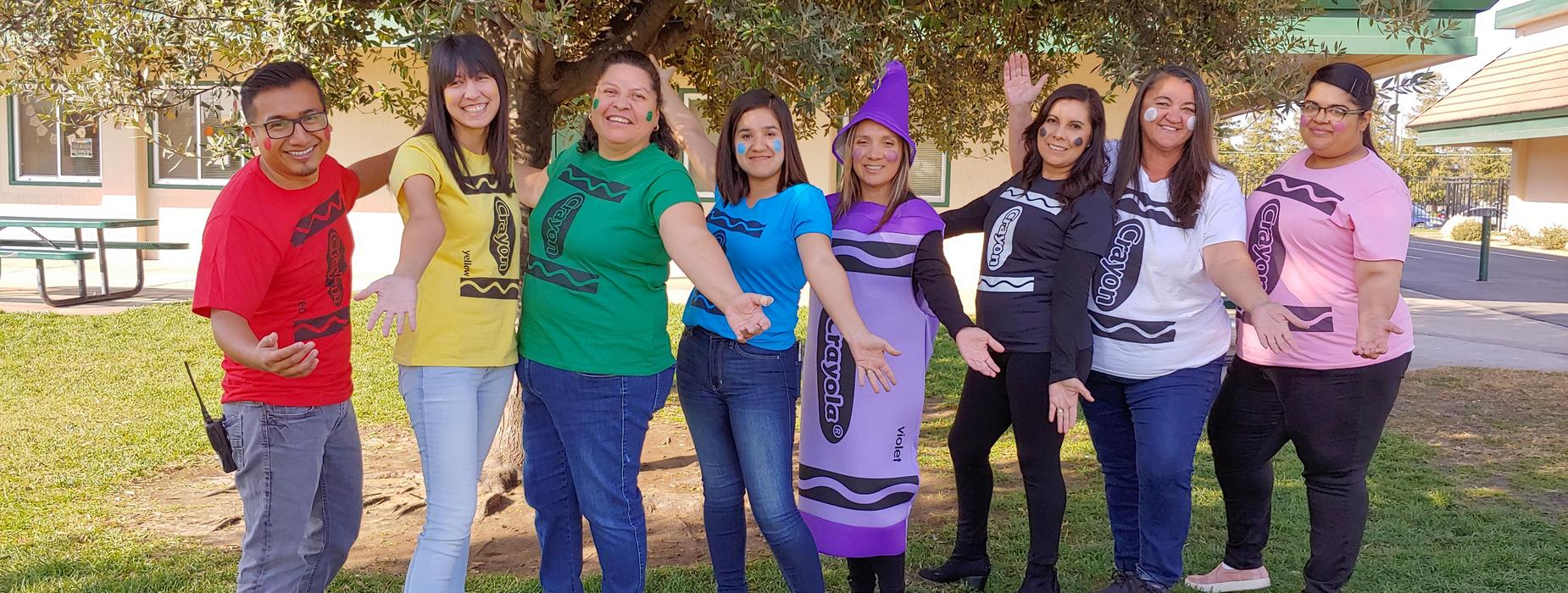 staff halloween crayon costumes