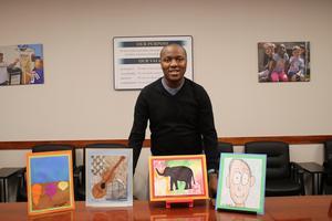 Zane and Art Work