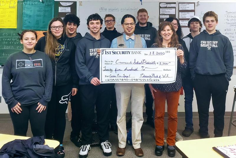1st Security Donates for Costa Rica Trip