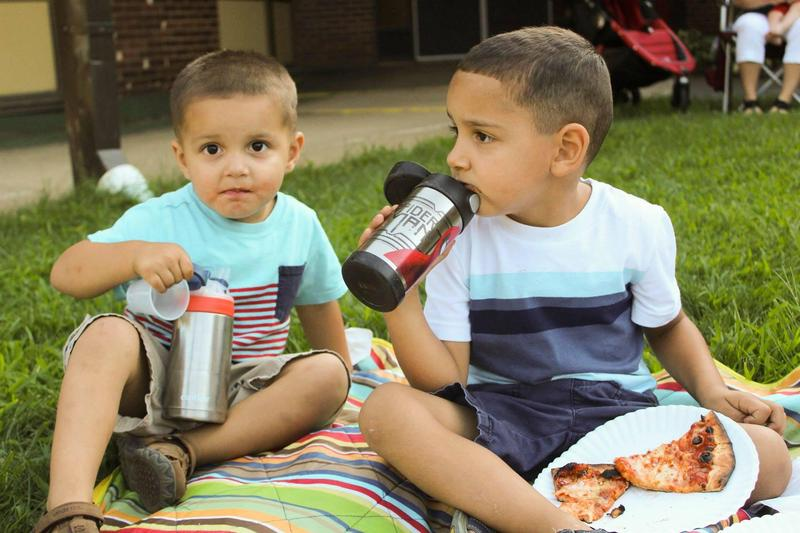 Children at Welcome Back Pizza Party