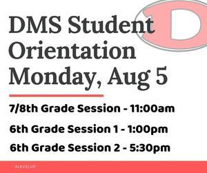 Student orientation times