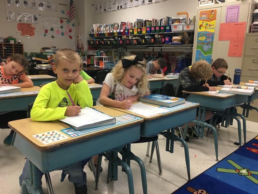2nd Graders working hard at SME