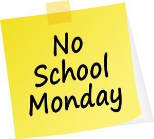 No school on Monday graphic