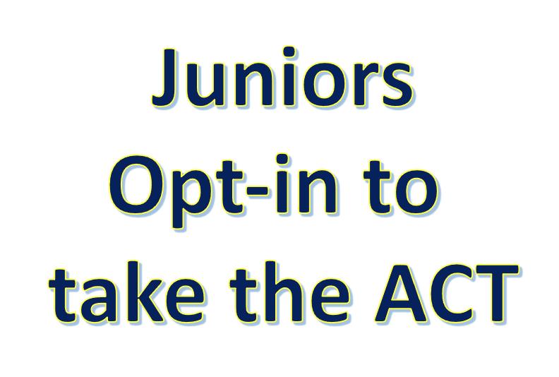 ACT test reminder