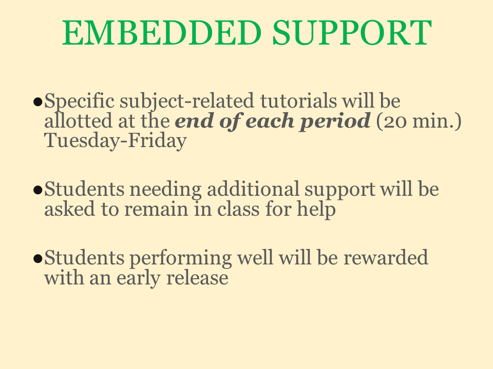 Embedded Support power point slide