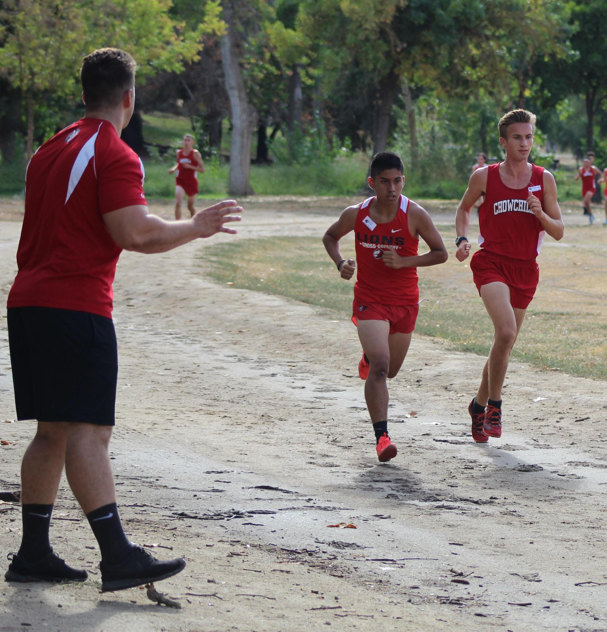 Cross Country runners in action at Woodward Park.