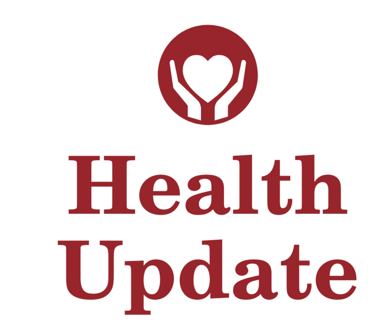health update with logo of heart