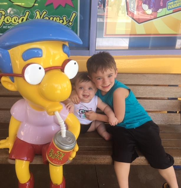 Jackson & Lucy at Universal Studios in Florida.