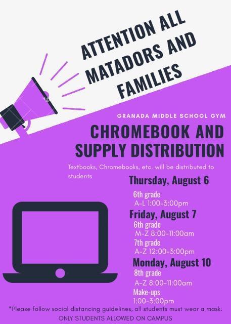 Chromebook/Book Distribution