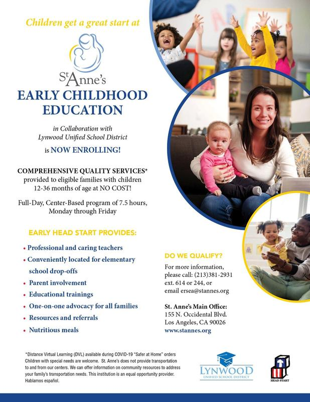 St Anne's Early Childhood Education is Now Enrolling! Featured Photo