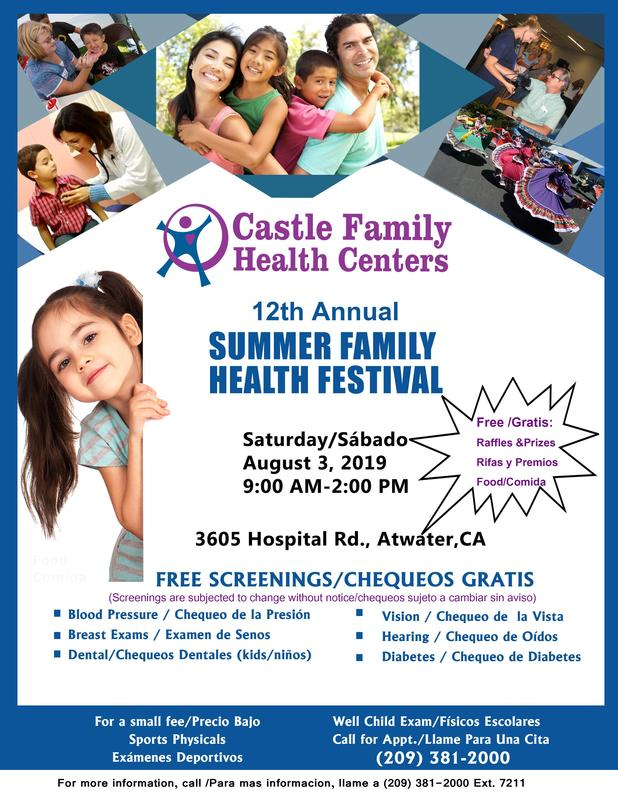 Summer Family Health Festival:  August 3, 2019 Featured Photo