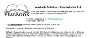 yearbook flier