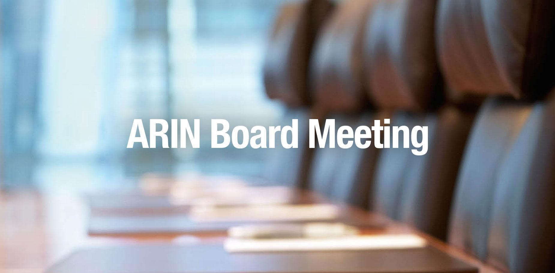 ARIN Board Meeting