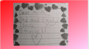 Valentine's letter to parents