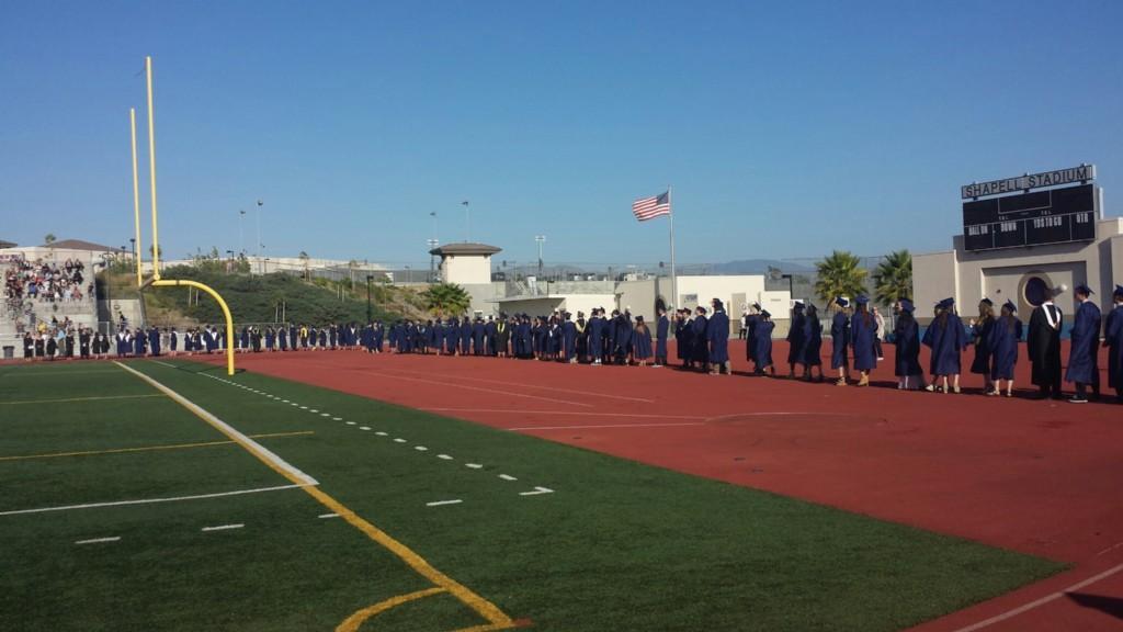 Students walking into the stadium