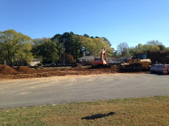 Tree removal in front of school
