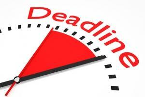 Deadline Approaching!