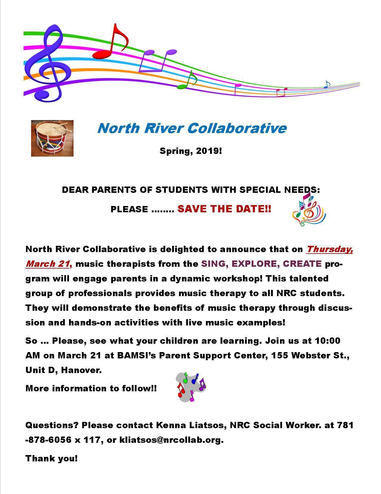 Parent Group Music Flyer