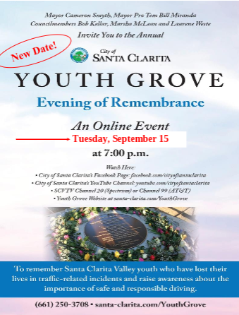 Youth Grove Remembrance Flyer
