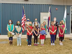 Group photo of the Girl Scout Troop