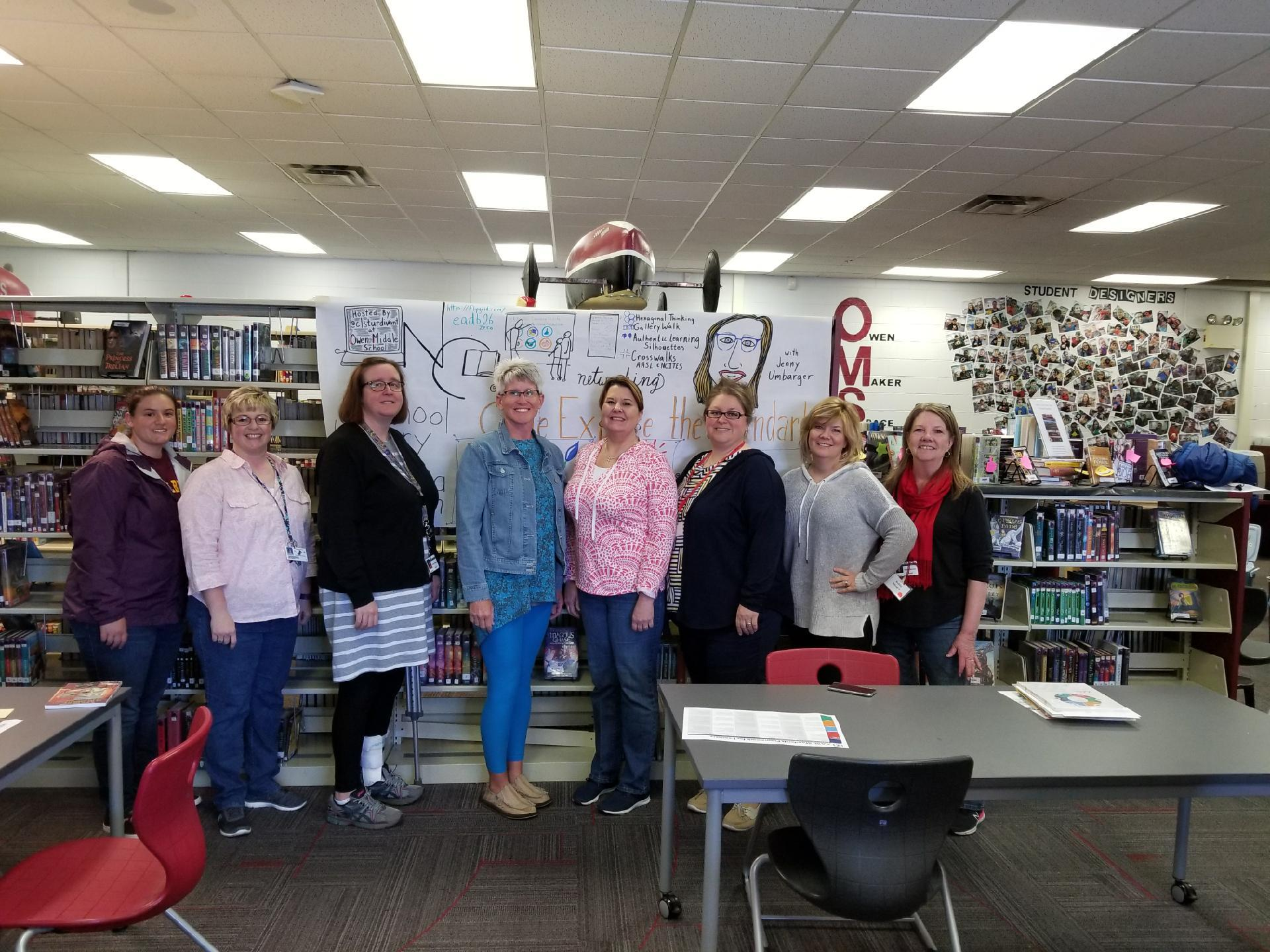 Wilkes County Schools Media Specialists at Regional Workshop