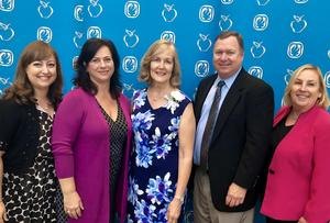 Teacher of the Year Jill Reddy with Administrators