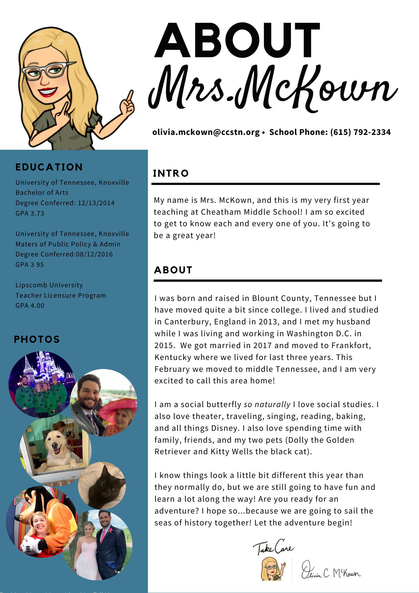 About Mrs. Mckown
