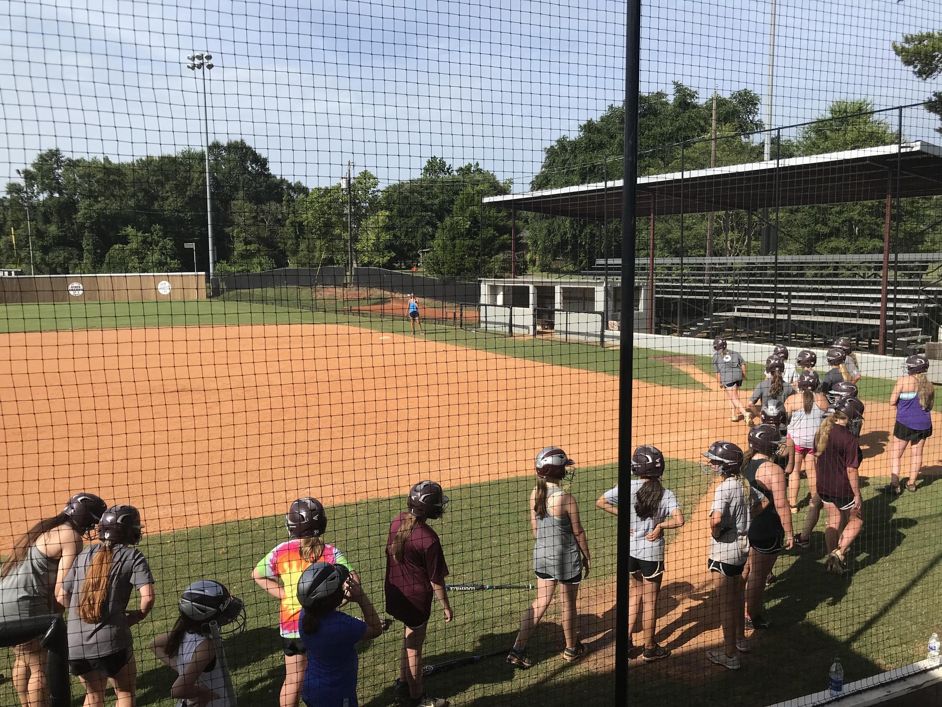Clarkdale Softball Practice