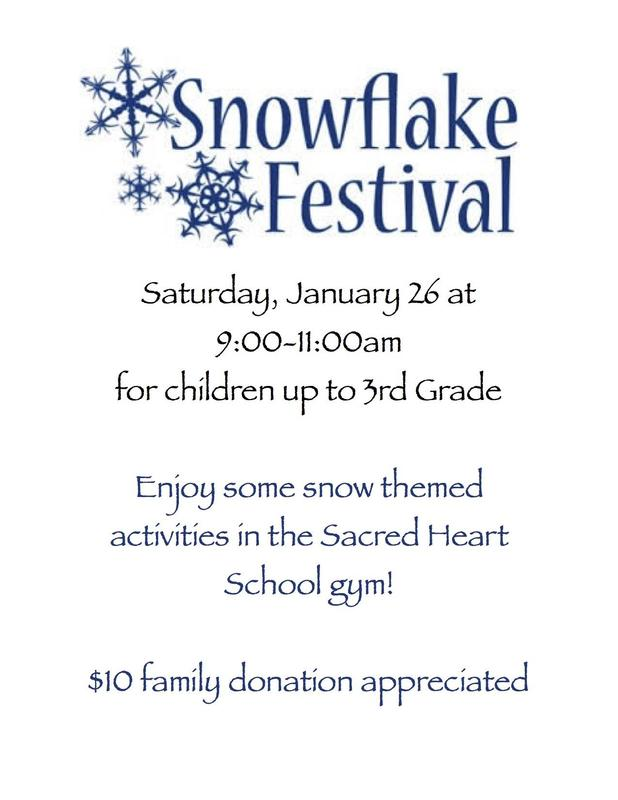 snowflake festival flyer