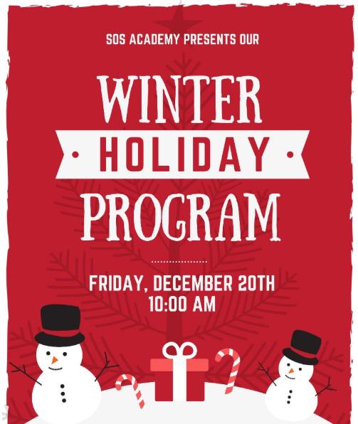 2019 Winter Holiday Program Featured Photo