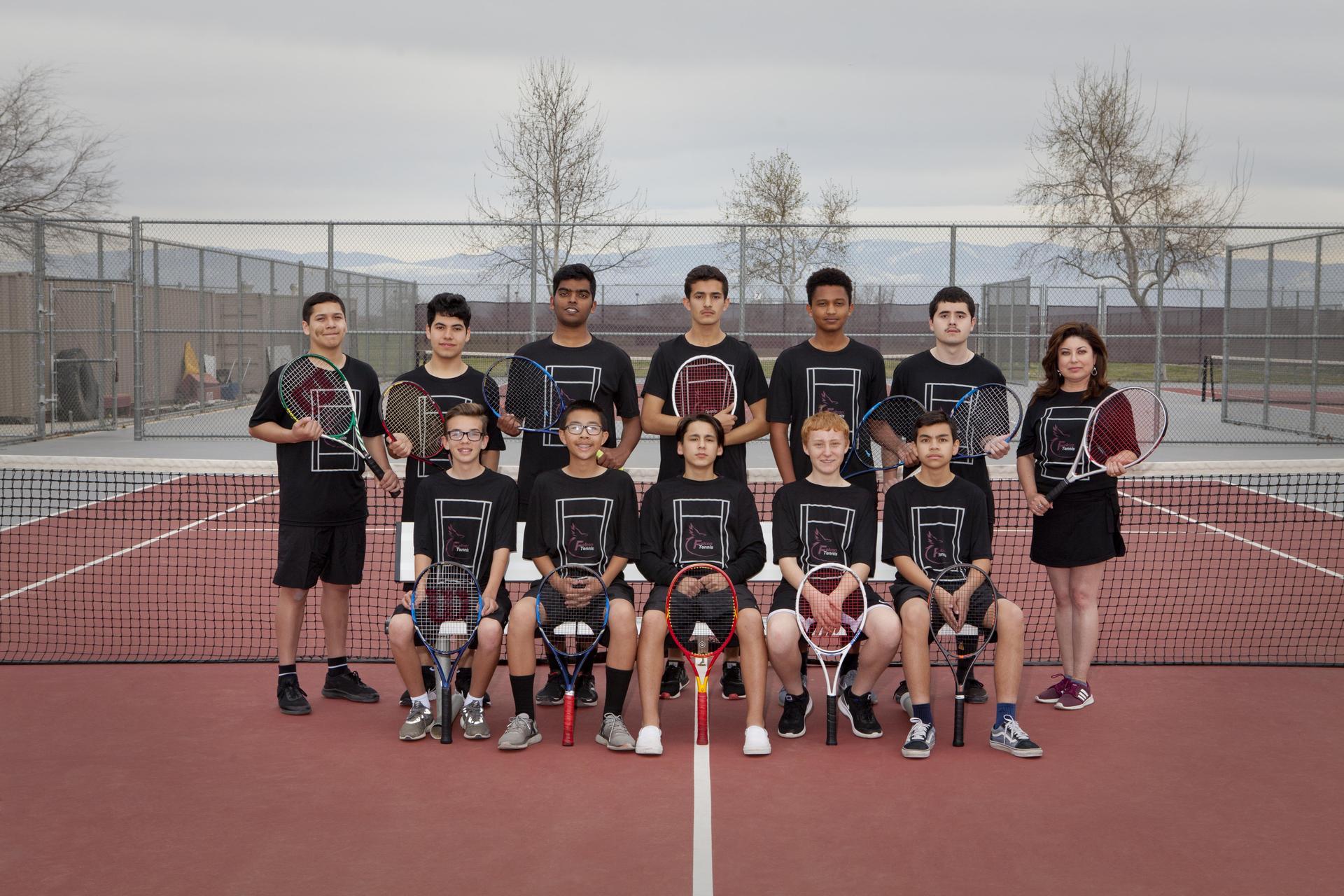 JV boys tennis 2019