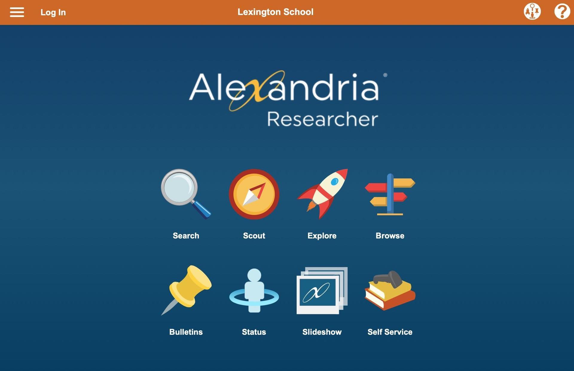 Alexandria home page