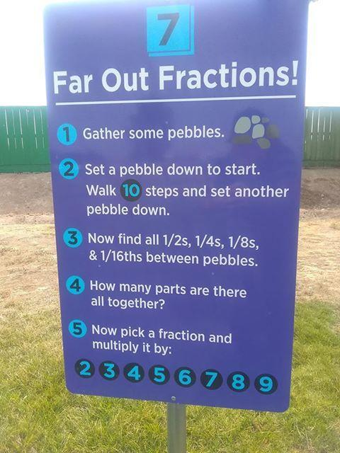 Far Out Fractions sign at Snake River Elementary.